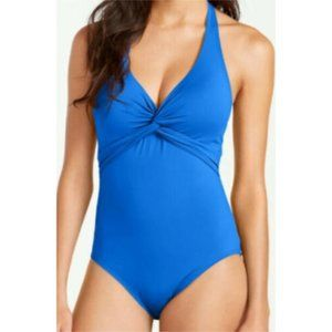 Tommy Bahama | Twist Front Halter Swimsuit